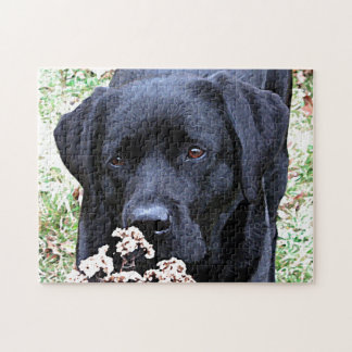 Black Labrador - Take Time Jigsaw Puzzle
