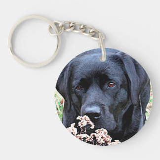 Black Labrador - Take Time Key Ring