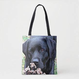 Black Labrador - Take Time Tote Bag