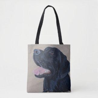 Black Labrador Tote Bag