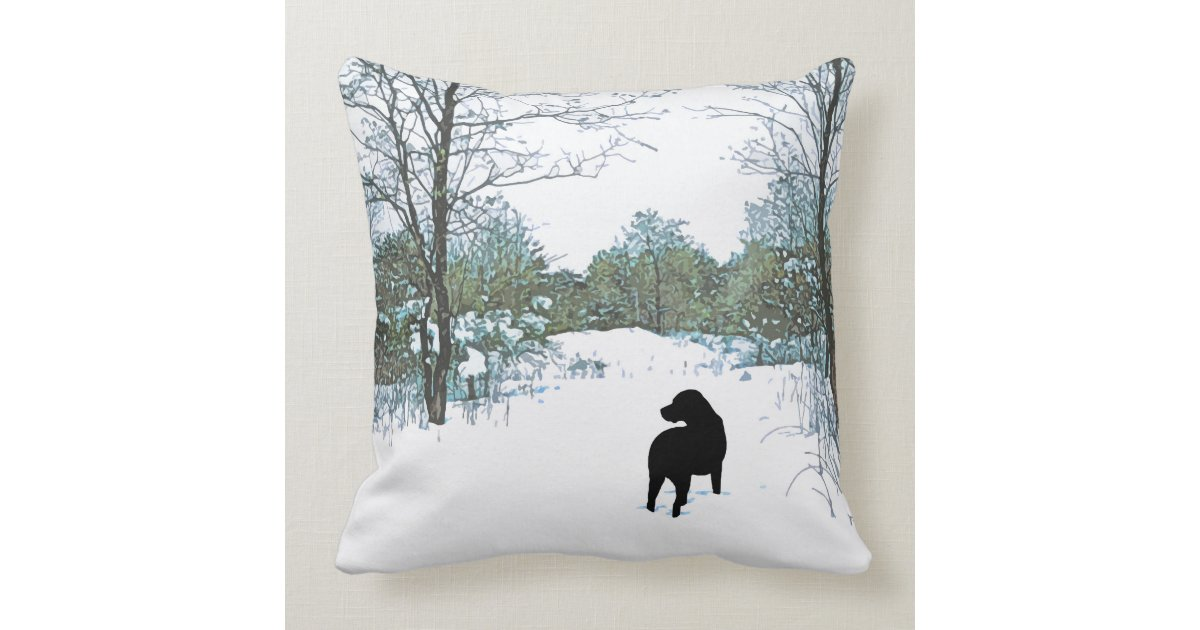 Black Lab Throw Pillow : Black Labrador - Treasures Throw Pillow Zazzle
