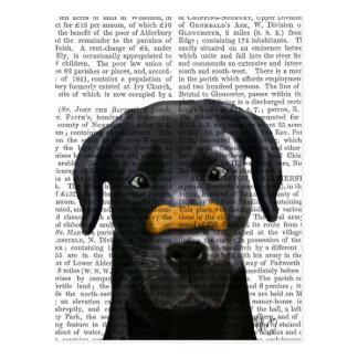 Black Labrador With Bone on Nose Postcard