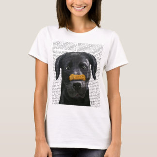 Black Labrador With Bone on Nose T-Shirt