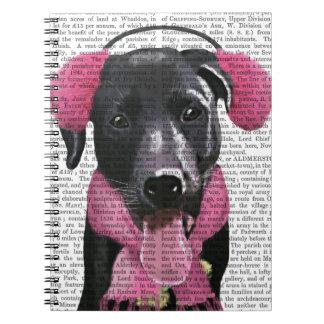 Black Labrador With Ear Muffs Spiral Note Book