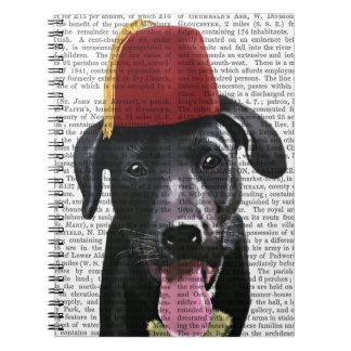 Black Labrador With Fez Notebook