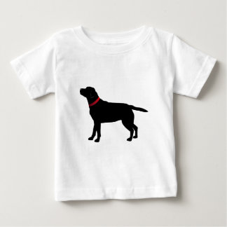 Black Labrador with Red Collar Baby T-Shirt