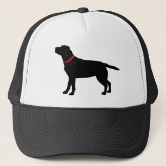Black Labrador with Red Collar Trucker Hat