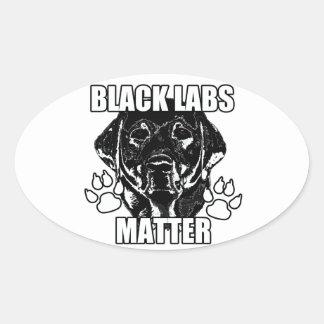 BLACK LABS MATTER 2 OVAL STICKER