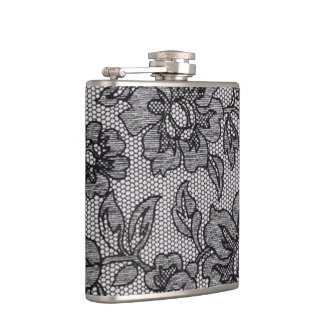 Black Lace 1 Hip Flask