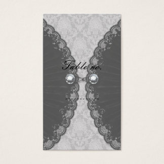 Black Lace and Diamond Look Goth Wedding Business Card