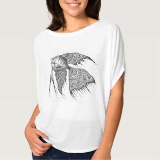 Black Lace Angelfish Flowy Top Tee Shirts