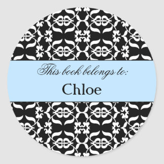 Black Lace Book Label Stickers