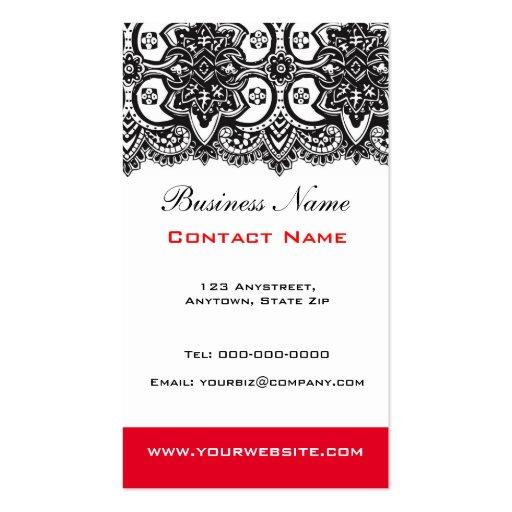 Black Lace Business Card