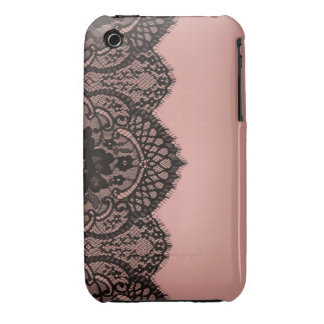 Black lace Case-Mate iPhone 3 cases