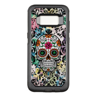 Black Lace & Colorful Sugar Skull OtterBox Commuter Samsung Galaxy S8 Case