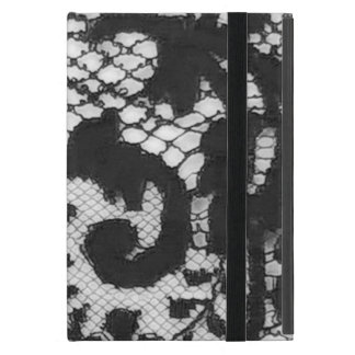 Black lace fabric detail Gothic goth Cover For iPad Mini