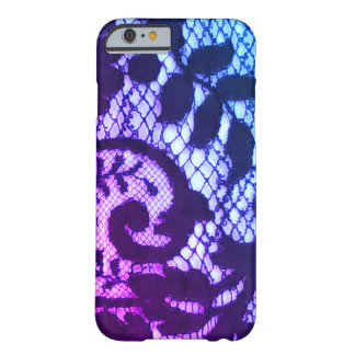 Black lace fabric detail Gothic steampunk Barely There iPhone 6 Case
