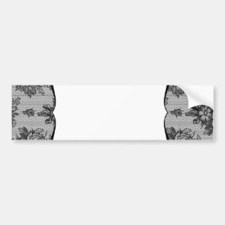 Black Lace French Background Bumper Stickers