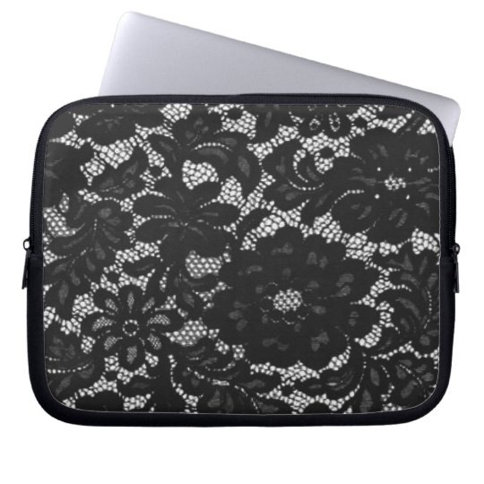 Black Lace Laptop Sleeve