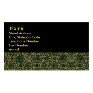 Black Lace Print on Solid Black Business Cards