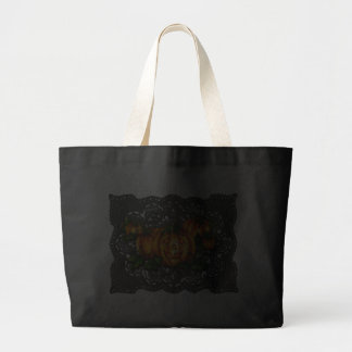 BLACK LACE, PUMPKIN PATCH by SHARON SHARPE Tote Bag