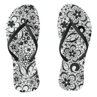 Black lace thongs
