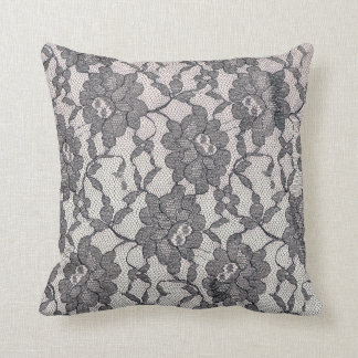 Black Lace Throw Pilow Cushion