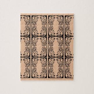 Black lace vanilla / black, beige jigsaw puzzle