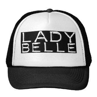 """Black """"Lady Belle"""" Trucker Hat"""