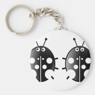 Black Ladybugs Key Ring