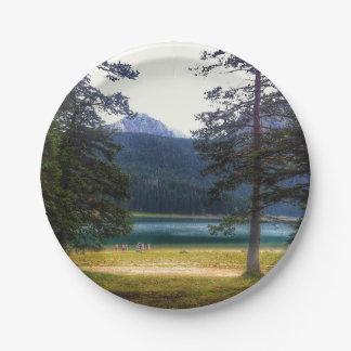 Black Lake. Žabljak. Montenegro. 7 Inch Paper Plate