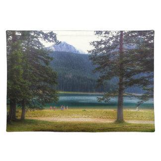 Black Lake. Žabljak. Montenegro. Placemat