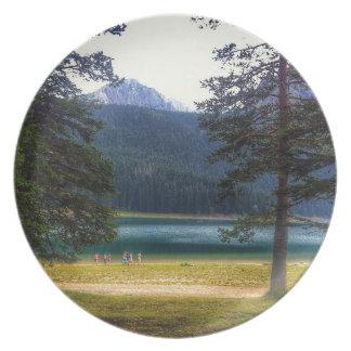 Black Lake. Žabljak. Montenegro. Plate