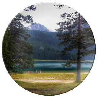 Black Lake. Žabljak. Montenegro. Porcelain Plates