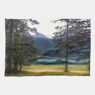 Black Lake. Žabljak. Montenegro. Tea Towel