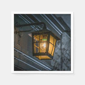 Black lantern at night disposable napkin