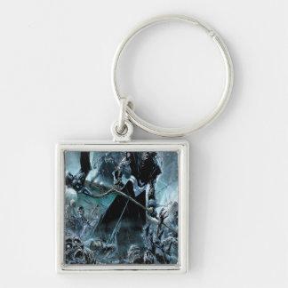 Black Lantern Corps Panel Silver-Colored Square Key Ring