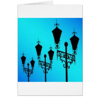 Black lanterns vectors design greeting cards