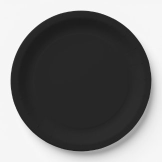 Black Large Paper Plate