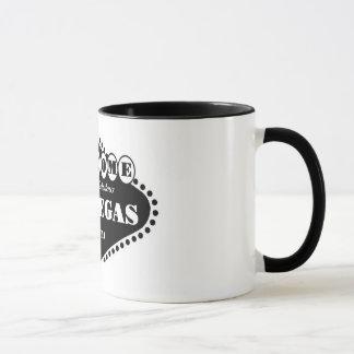BLACK Las Vegas Sign Ringer T Mug