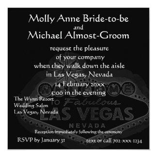 Black Las Vegas Wedding Card