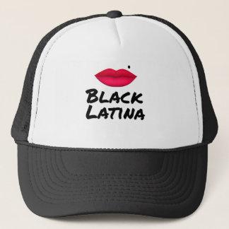 black_latina trucker hat
