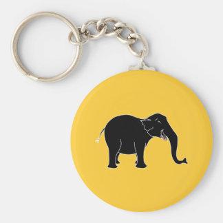 Black Laughing Elephant Keychain