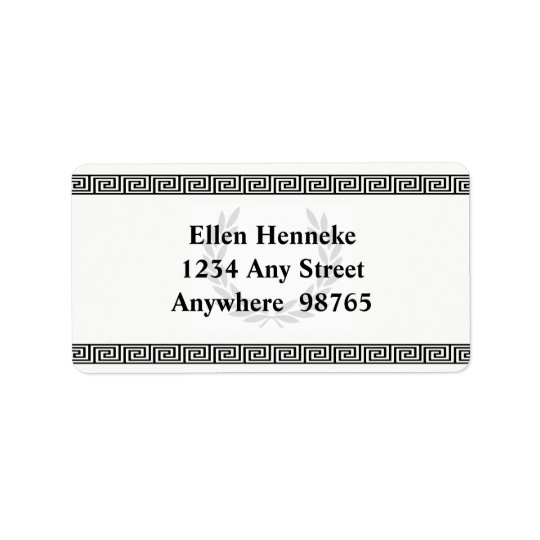 Black Laurel Wreath Label