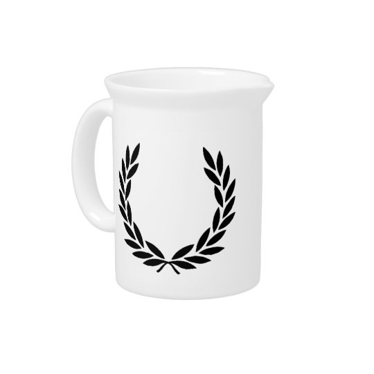 Black Laurel Wreath Pitcher