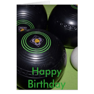 Black-Lawn_Bowls,_Birthday_Card Greeting Card