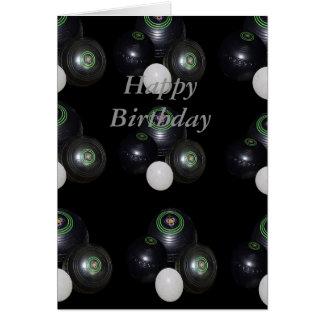 Black Lawn Bowls, Small Happy Birthday Card
