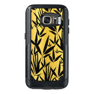 Black Leaf Pattern Design OtterBox Samsung Galaxy S7 Case