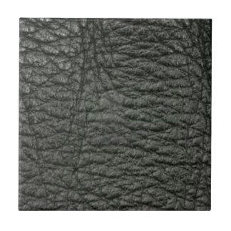 Black Leather Effect Small Square Tile