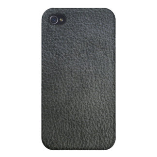 Black Leather iPhone4 Case Cover iphone 4 iPhone 4/4S Case